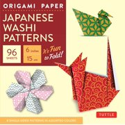"Origami Paper - Japanese Washi Patterns - 6"" - 96 Sheets : Tuttle Origami Paper: High-Quality Origami Sheets Printed with 8 Different Patterns: Instructions for 7 Projects Included"