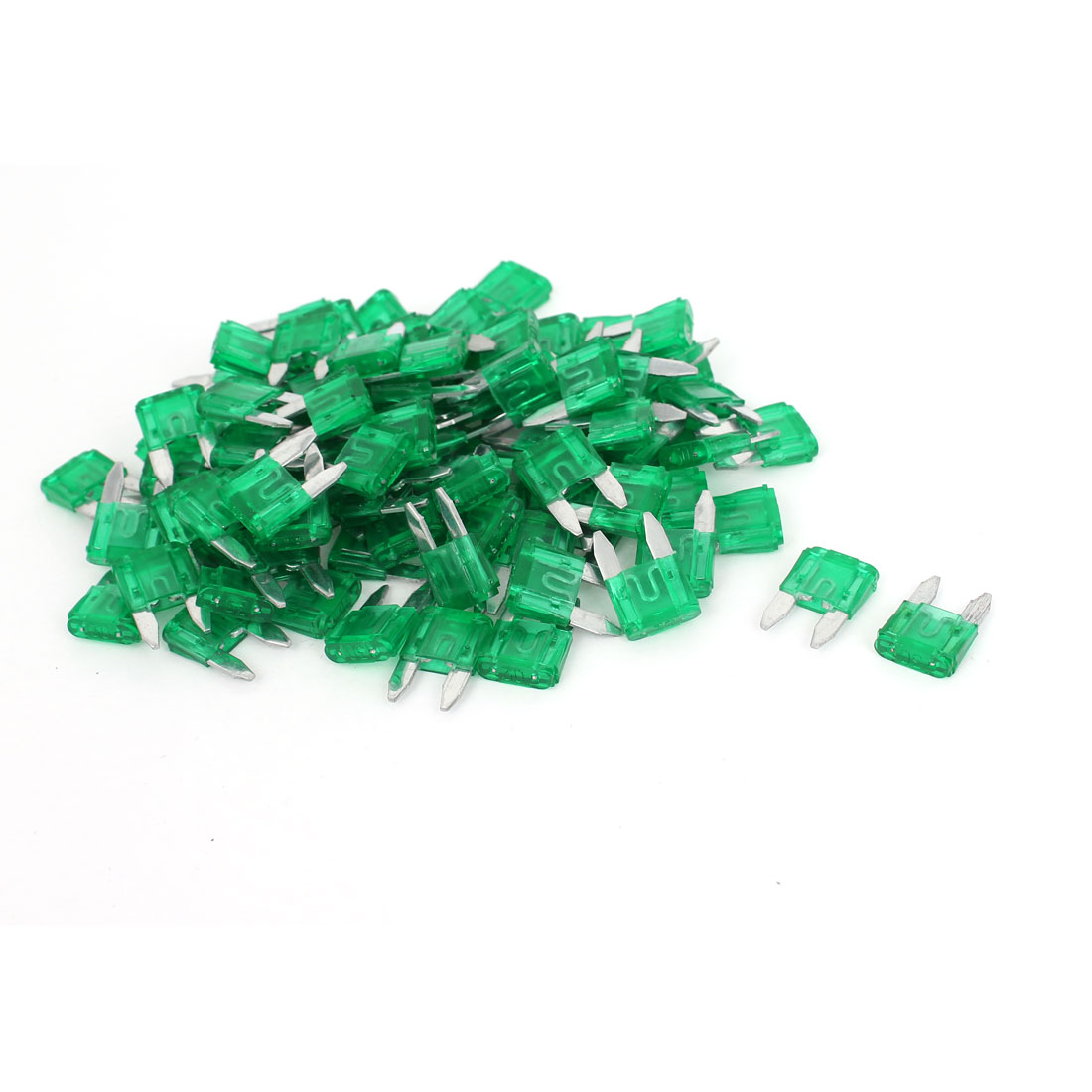 100 Pcs 30A Blade Fuse Auto Car Truck Motorcycle SUV Green by Unique Bargains