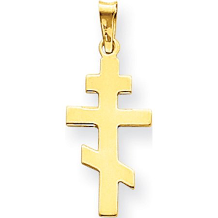 Gold Orthodox Cross - Leslies Fine Jewelry Designer 14k Yellow Gold Eastern Orthodox Cross (11x27mm) Pendant Gift