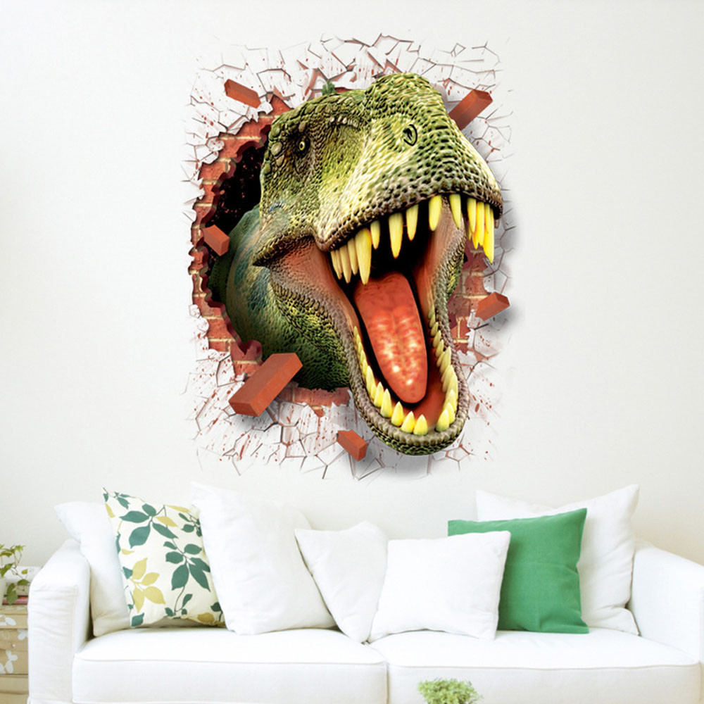 3D Cool Dinosaur Vinyl Sticker Decals Park Wall Mural Kids Room Decor