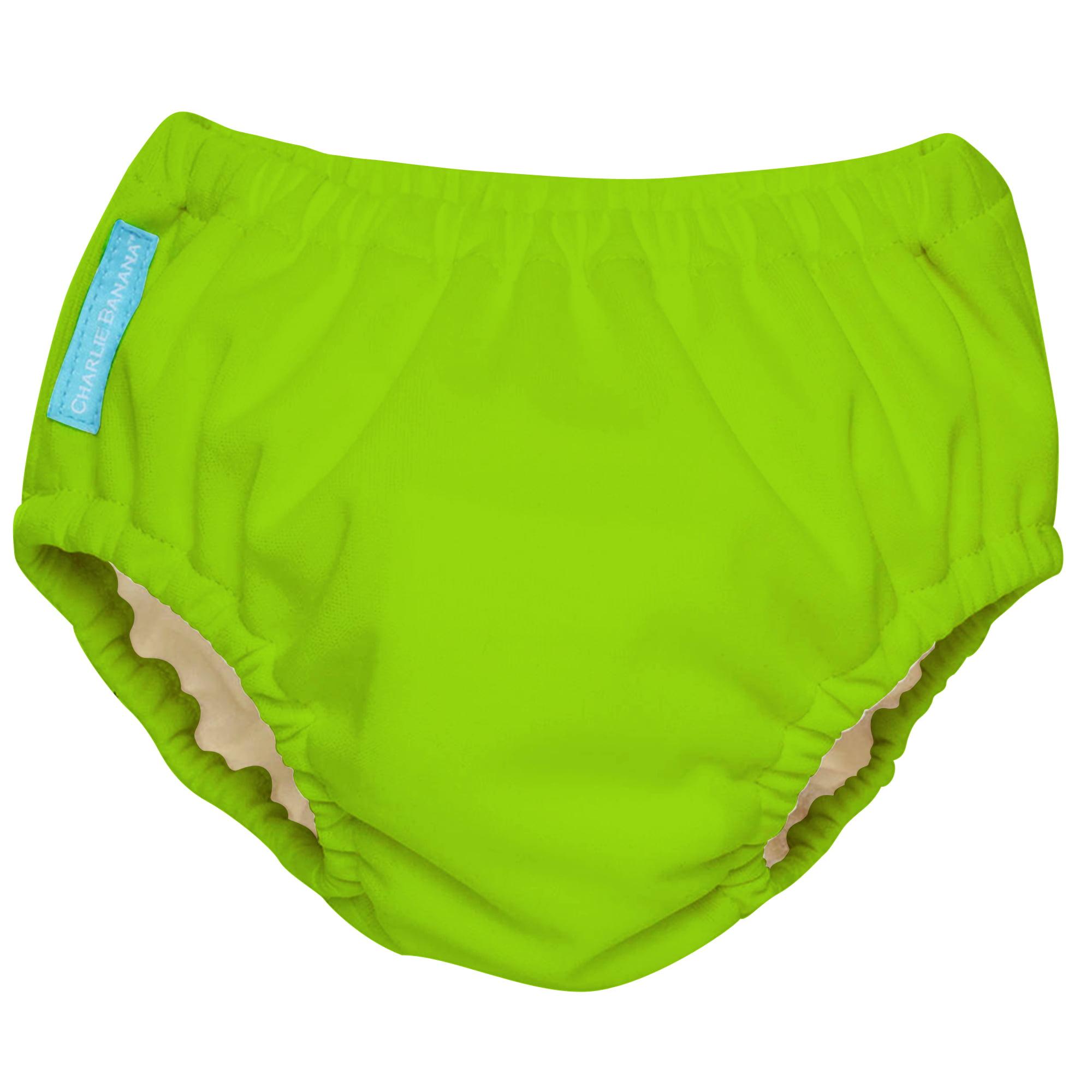 Charlie Banana Extraordinary Reusable Swim Diaper, Green (Choose Size)