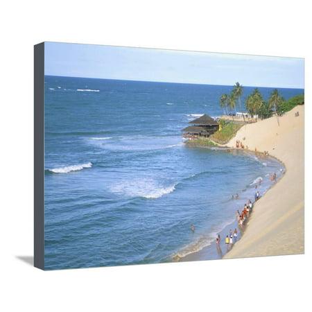 Beach, Sand Dunes and Bar 21, Genipabu, Natal, Rio Grande Do Norte State, Brazil, South America Stretched Canvas Print Wall Art By Sergio (Rio Norte Bar Server)