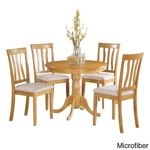 East West Furniture Oak Small Kitchen Table and 4 Chairs