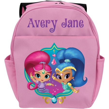 Pink Shimmer And Shine (Personalized Shimmer and Shine Twinsies Pink Toddler Backpack,)