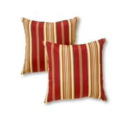 Kinnabari Stripe 17 x 17 in. Outdoor Accent Pillow, Set of 2