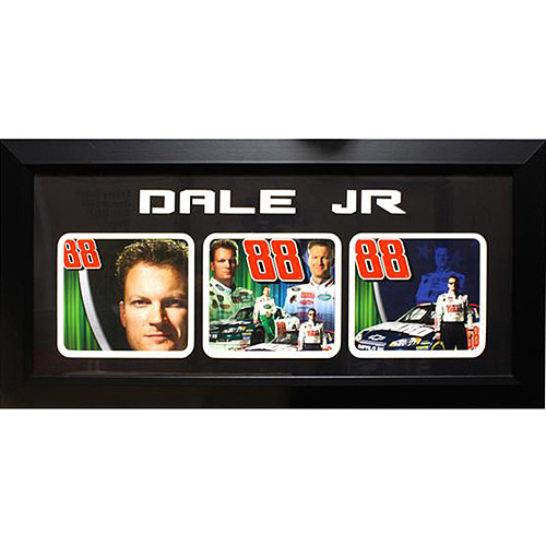 NASCAR Dale Earnhardt, Jr 3-Photo Frame, 15x35