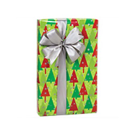 Red and Green Christmas Trees Galore  Holiday /Christmas Gift Wrapping Paper 16ft