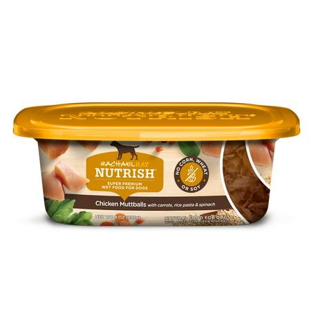 Rachael Ray Nutrish Natural Wet Dog Food, Chicken Muttballs with Pasta, 8 oz tub