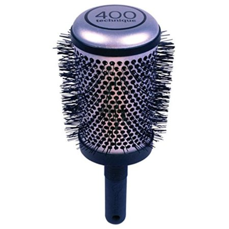 Tourmaline Hair Brushes - Technique Barrel Hair Brush, Round, 3X-Large, Technique Thermals feature tourmaline ionic bristles that infuse moisture into the hair shaft and scalp By Cricket