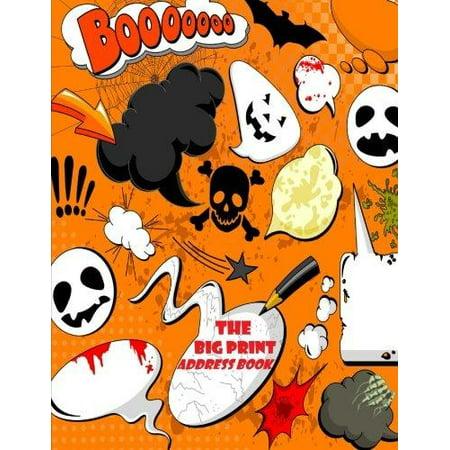 The Big Print Address Book: The Large Print Book Halloween