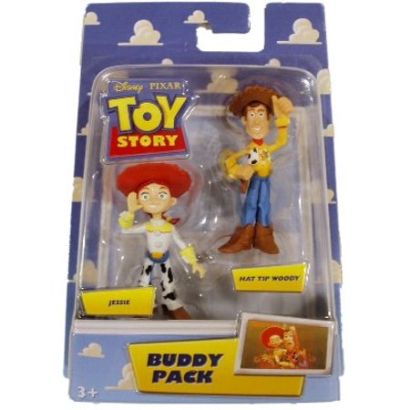 Jessie And Woody From Toy Story (Toy Story Buddy Pack Hat Tip Woody & Jessie Mattel Toy Action Figures ~ Approx. 2 Inches)