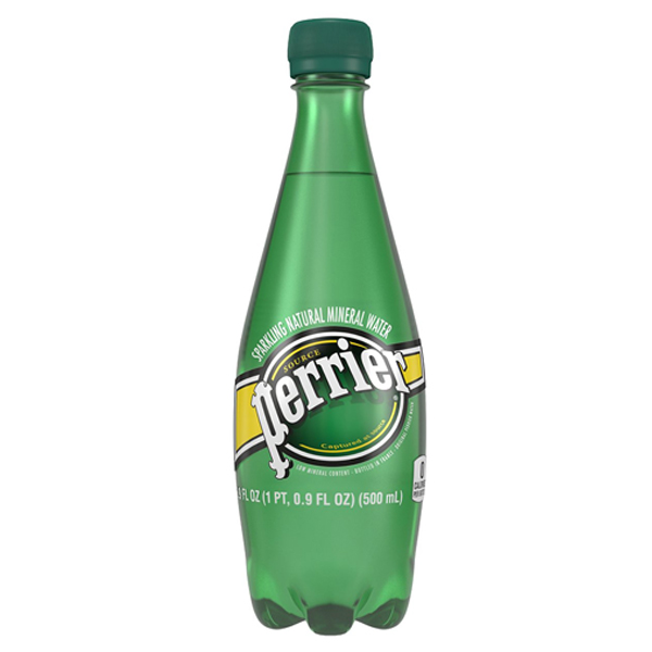 Perrier Sparkling Natural Mineral Water, 16.9 oz Plastic Bottles Pack of 24 by