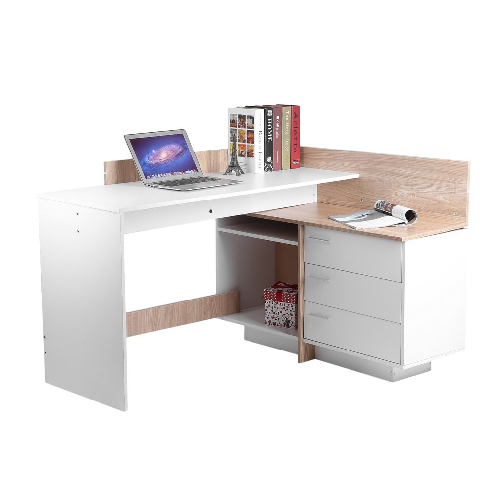 Stable Computer PC Table Home Study Office Workstation Table Work Desk Corner