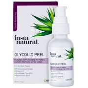 InstaNatural Glycolic Acid Peel with Vitamin C & Hyaluronic Acid, 1 oz