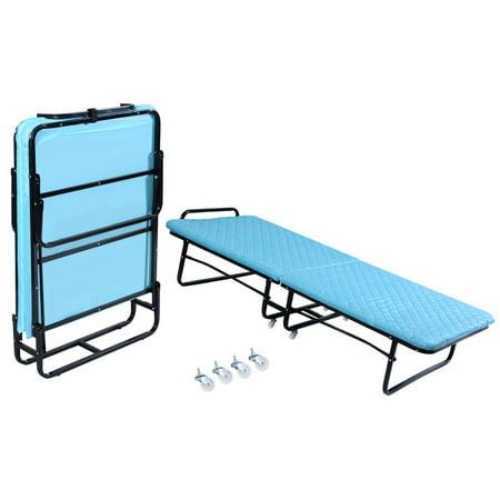 Folding Bed Foam Mattress Twin Roll Away Guest Portable