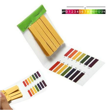 80 Strips Full Range pH Alkaline Acid 1-14 Test Paper Water Litmus Testing