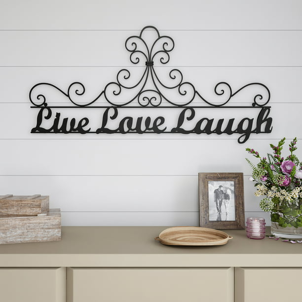 Metal Cutout Live Laugh Love Decorative Wall Sign 3d Word Art Home Accent Decor Modern Rustic Or Vintage Farmhouse Style By Lavish Home Walmart Com Walmart Com