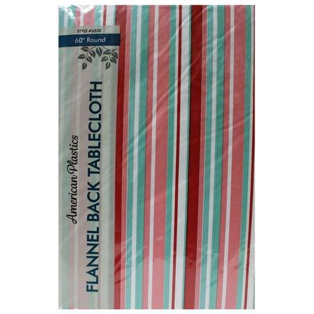 Tablecloth 60 Quot Multi Colored Stripe Round Walmart Com