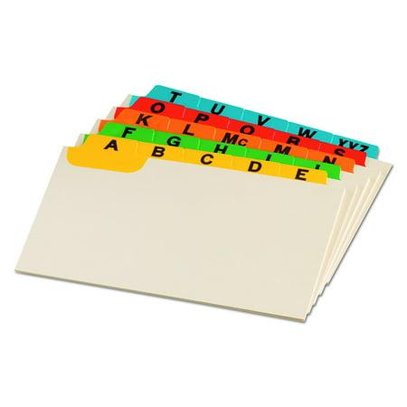05827 laminated index card guides alpha 15 tab manila 5