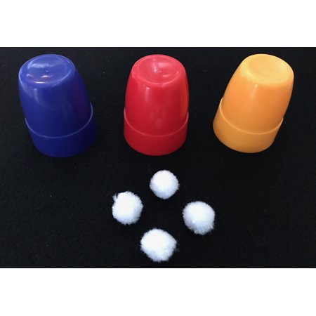 Magic Cups And Balls - London Magic Works Plastic Cups and Balls Set- A solid through solid penetration!