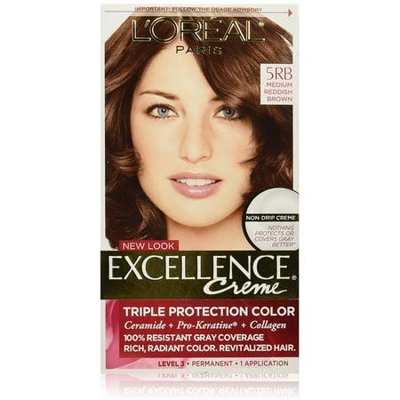 L'Oreal Paris Excellence Creme Triple Protection  Haircolor, Medium Reddish Brown [5RB] 1