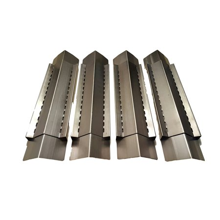 Aussie Bar - Set of 4 Adjustable Stainless Steel Heat Plates, Vaporizer Bars for Grill King, Aussie, Charmglow, Brinkmann, Uniflame, Lowes Model Grills, Expands from 12