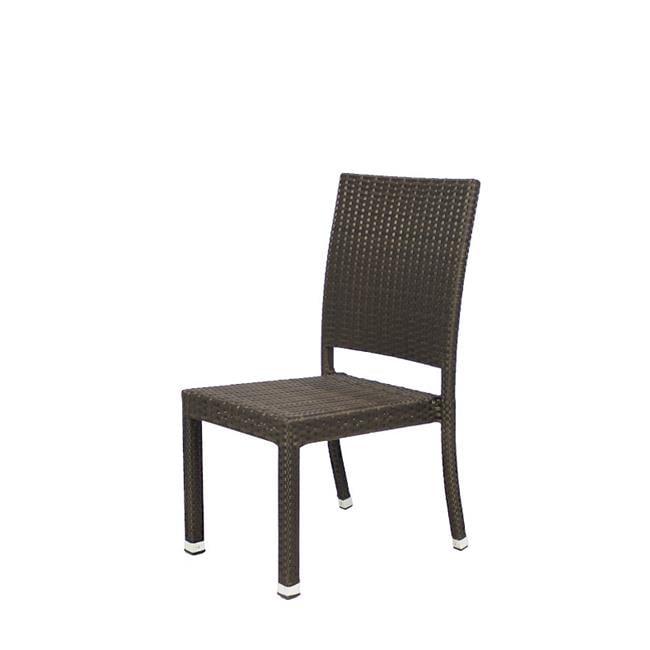 Source Outdoor SO-2002-162-ESP Zen Dining Side Chair in Espresso by