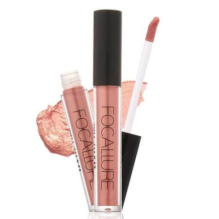 New Sexy Gold 7 Colors Metal Matte Waterproof Lipstick Liquid Lip Gloss Makeup GOGBY