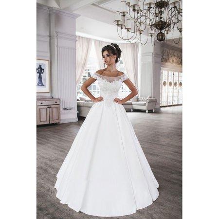 One-Shoulder Satin Retro Court Slim Wedding Princess Dream Evening Gown
