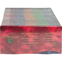 Compucessory, CCS55403, Slim CD/DVD Jewel Cases, 100, Assorted