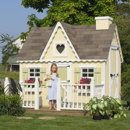 Victorian Cottage Gardens - Little Cottage Victorian 6 x 8 ft. Wood Playhouse