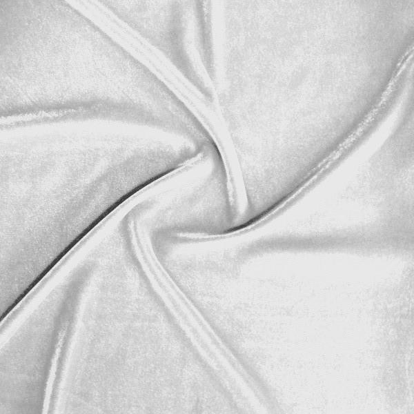 "Micro Velvet Soft Fabric 45"" inches By the Yard for Sewing Apparel Crafts (White)"