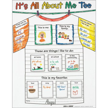 Ready-To-Decorate? All About Me Tee Posters - Set of 24 - All About Me Poster Ideas