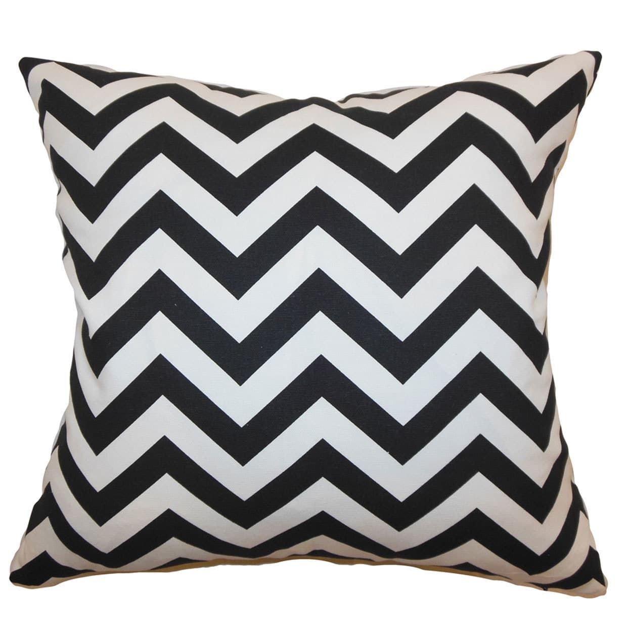 The Pillow Collection Xayabury Zigzag Euro Sham Black