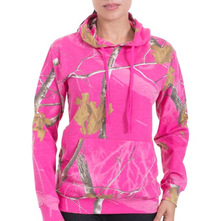 Realtree ladies camouflage fleece hoodie for Realtree camo flannel shirt