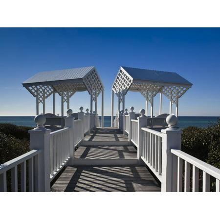 USA, Florida, Florida Panhandle, Seaside, Beach Pavillion Print Wall Art By Walter