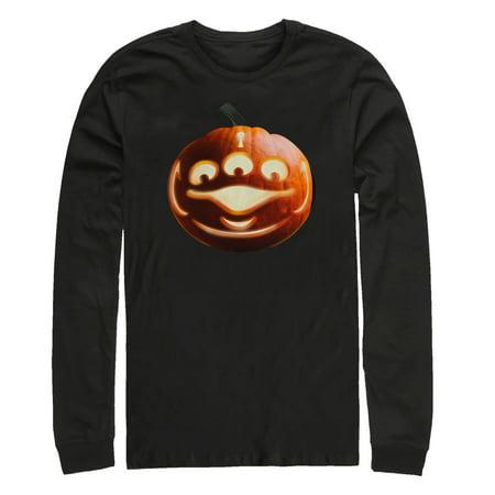 Christian Halloween Pumpkin Story (Toy Story Men's Halloween Alien Pumpkin Long Sleeve)