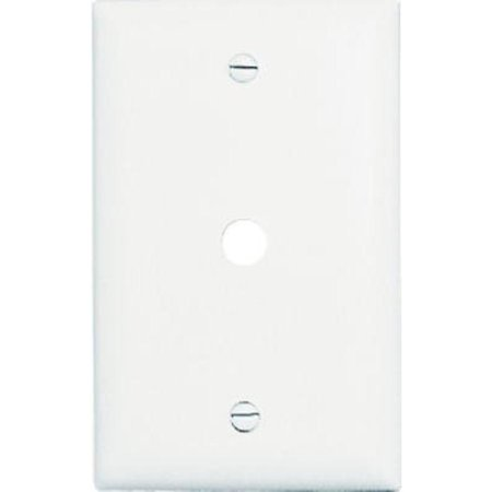 White 1 Gang Telephone Hole Opening Wall Plate Nylon Pass and Seymour TP11WCC15