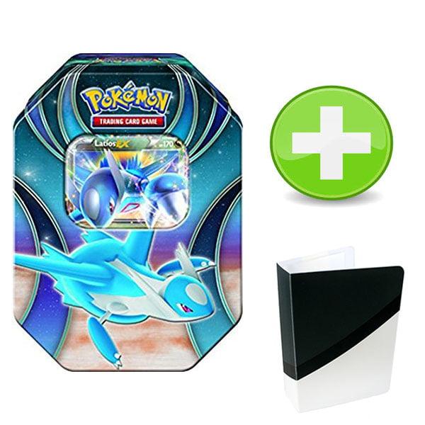 Pokemon Latios EX Tin with 1 Ultra Ball Colorway Mini Binder