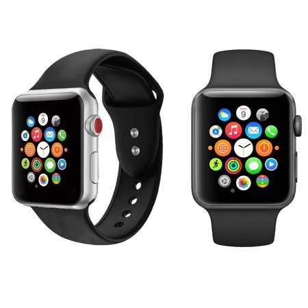 Silicone Sport Replacement Watch Band for 42/44mm Apple Watch Series 1-4 (16-Colors) (Ironman Watch Band 30 Lap)