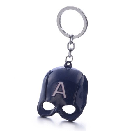Marvel avengers Captain America mask alloy keychain A word mask keyring - Weird Masks