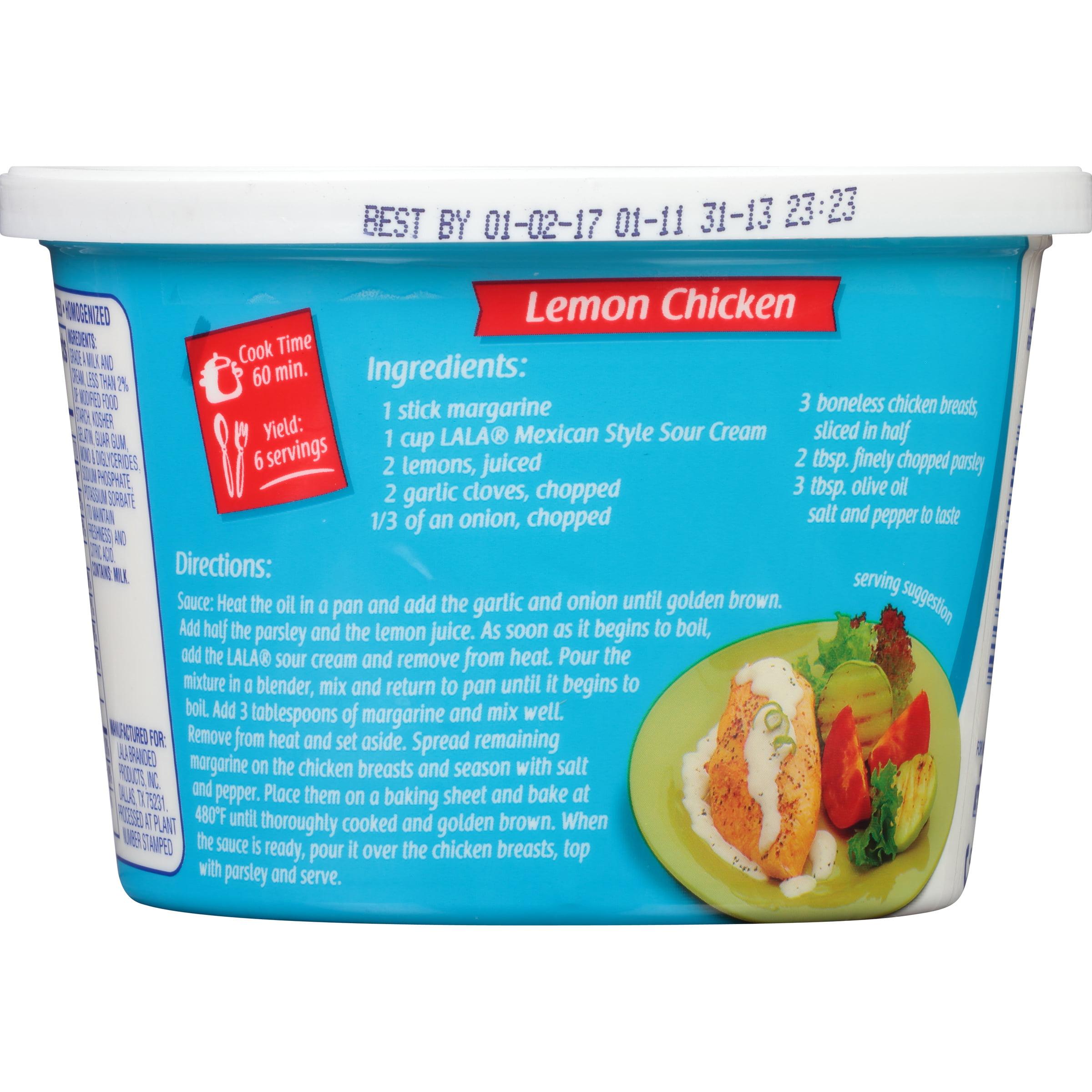 LALA Mexican Style Sour Cream, 16 Oz. - Walmart.com