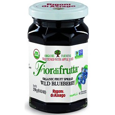 Fiordifrutta Organic Wild Blueberry Fruit Spread, 8.82 oz (Farms Blueberry Fruit Spread)