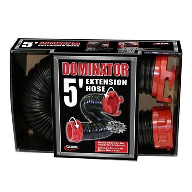 VALTERRA LLC D040205 5 Ft. Dominator Sewer Hose, Black