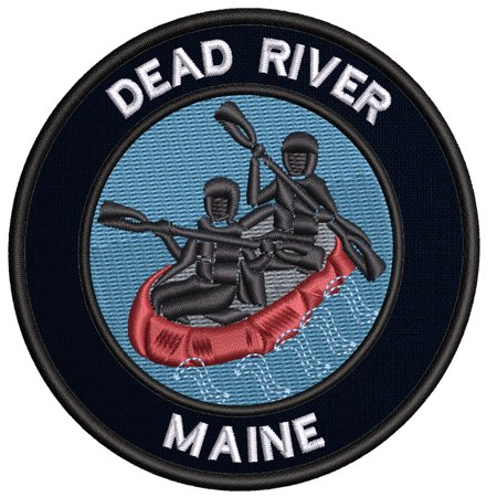 Applique Outdoors Rafting The Dead River Theme Iron/Sew On Decorative Patch Funny Saying Biker Emblem