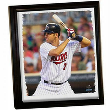 Minnesota Twins Joe Mauer Framed Stretched 32X40 Canvas - image 1 de 1