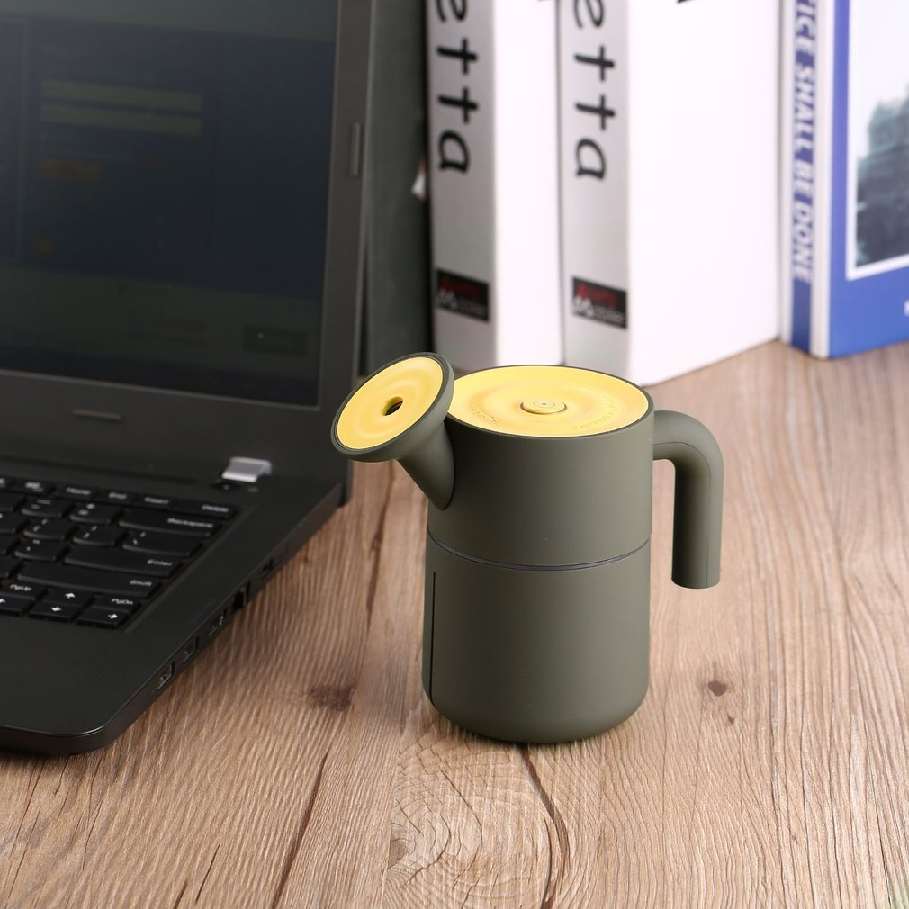 Portable Creative HK-831 USB Watering Pot Humidifier Delicate Shape 200ml Ultra Quiet Operation for Home & Office