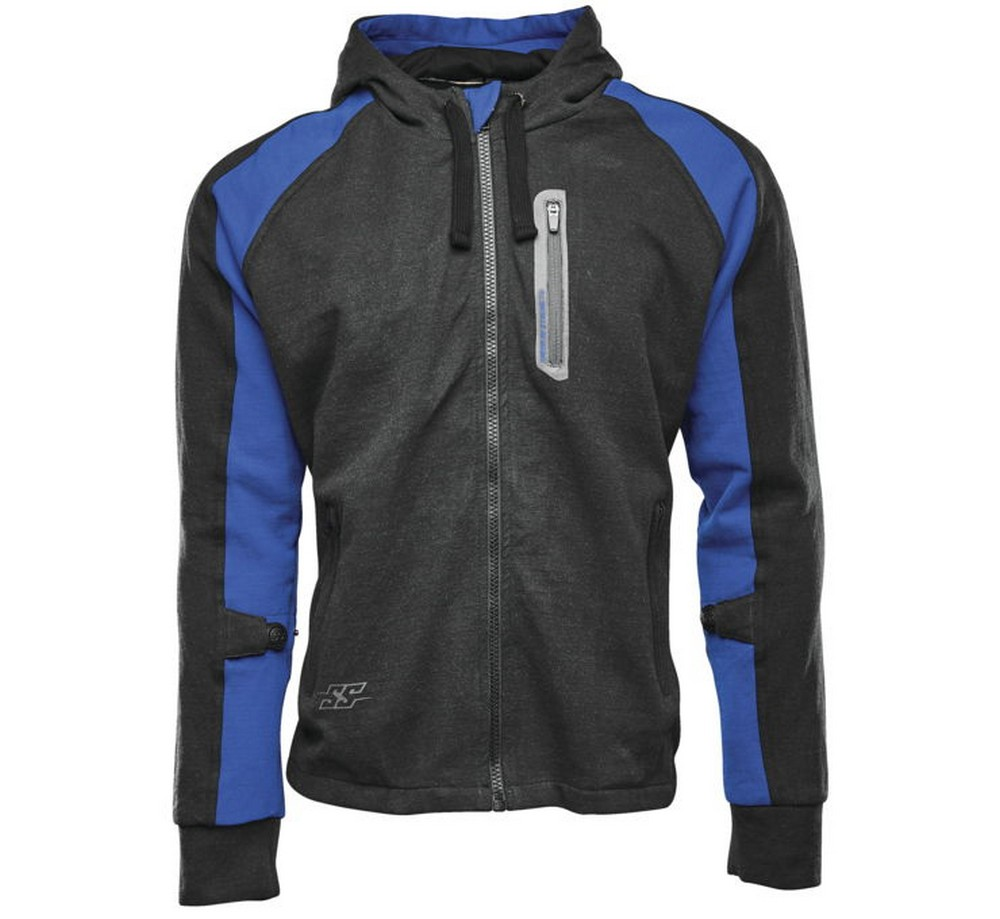 Speed & Strength Run With The Bulls Mens Armored Zip Up Hoody Blue/Black