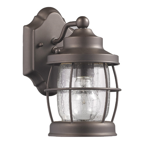 """CHLOE Lighting LUCAN Transitional 1 Light Rubbed Bronze Outdoor Wall Sconce 10"""" Height"""