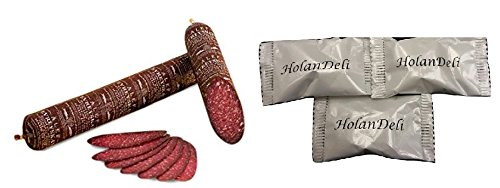 100% Beef Salami (jewish salami) 1lb by HolanDeli. Includes HolanDeli Chocolate Mints. by